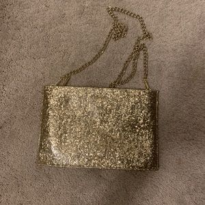 Gold Kate Spade cross body bag
